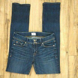 Hudson Ginny Crop Straight Cuff Jeans Womens 28